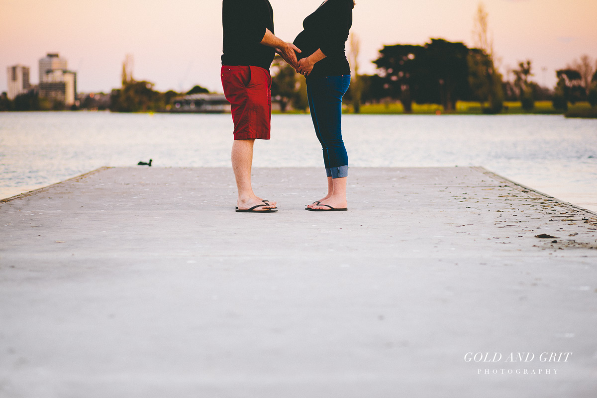 Sunset baby bump shoot in Albert Park. Melbourne Wedding, Portrait and Event Photography