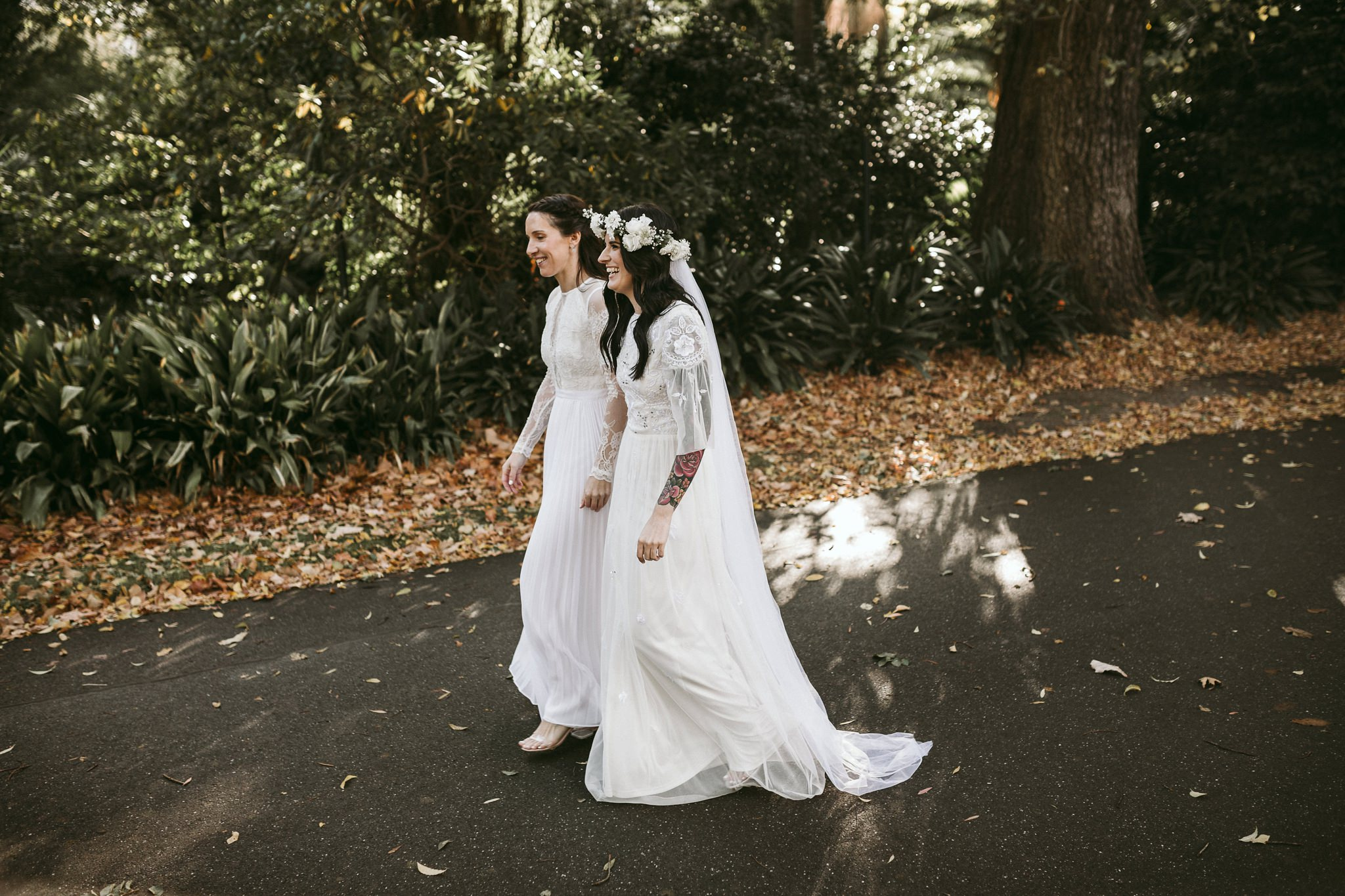 Melbourne Alternative Elopement Photography / Fun candid tiny wedding in Melbourne / Fitzroy Gardens Relaxed Elopement Photography / Melbourne Wedding Photography / Gold and Grit Photography
